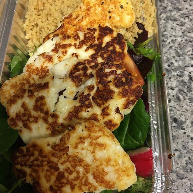 Hulumi salad , cous cous 👍