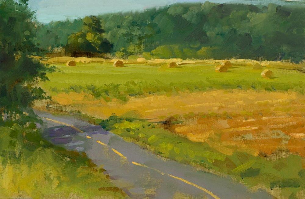 Hay Bales Near Jericho