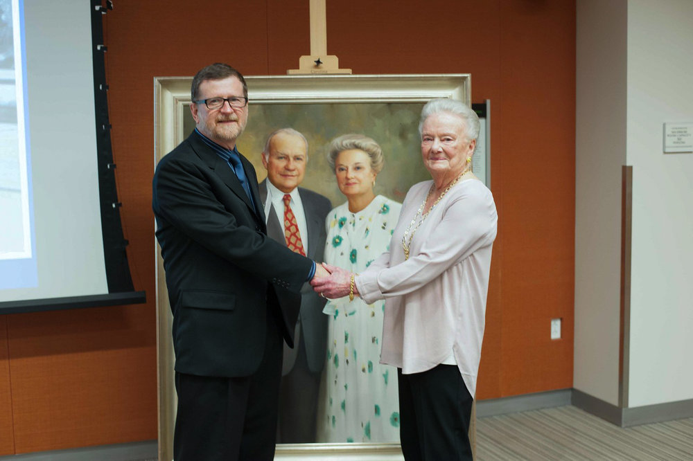 John Ennis and Mrs Schreyer with Portrait.jpg