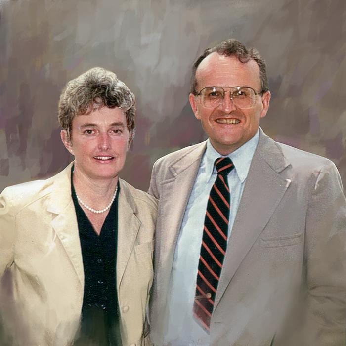 """Preliminary for portrait of John & Millie Green  32""""x32"""""""