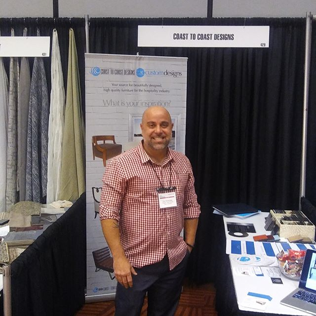Stop by and say hello to Eric Fernandez, our C2C Designs Sales Manager and unofficial Sample Wood-Cutter, at the #NEWHSeattle Tradeshow today. 🛏🛋🎉 #NEWH #SeattleDesign #CustomManufacturer