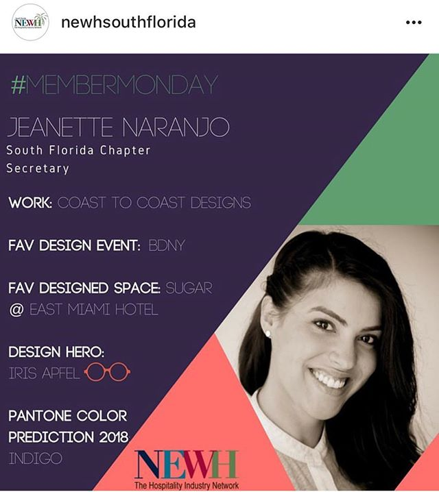 #Repost || We love participating in #NEWH! #C2CDesigns #NEWHSoFlo #CustomHospitality #Manufacturer
