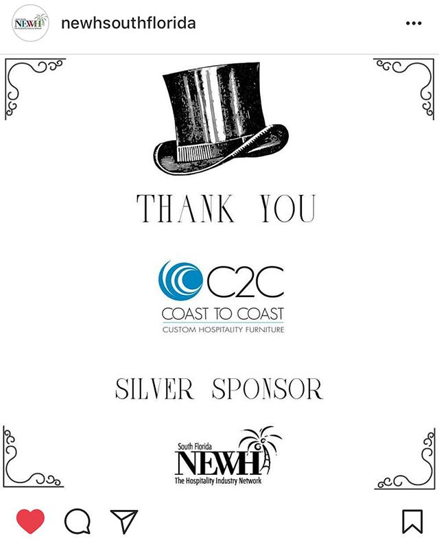 Thrilled to sponsor, even more excited to attend! 🔥🥂 #NEWH #SoFlo #TopIDBrunch #MemberAppreciation #C2CDesigns