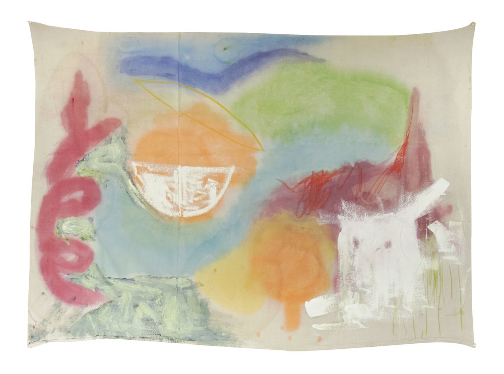 "untitled II (3) , los angeles, 2017  oil on canvas  51""x72"""