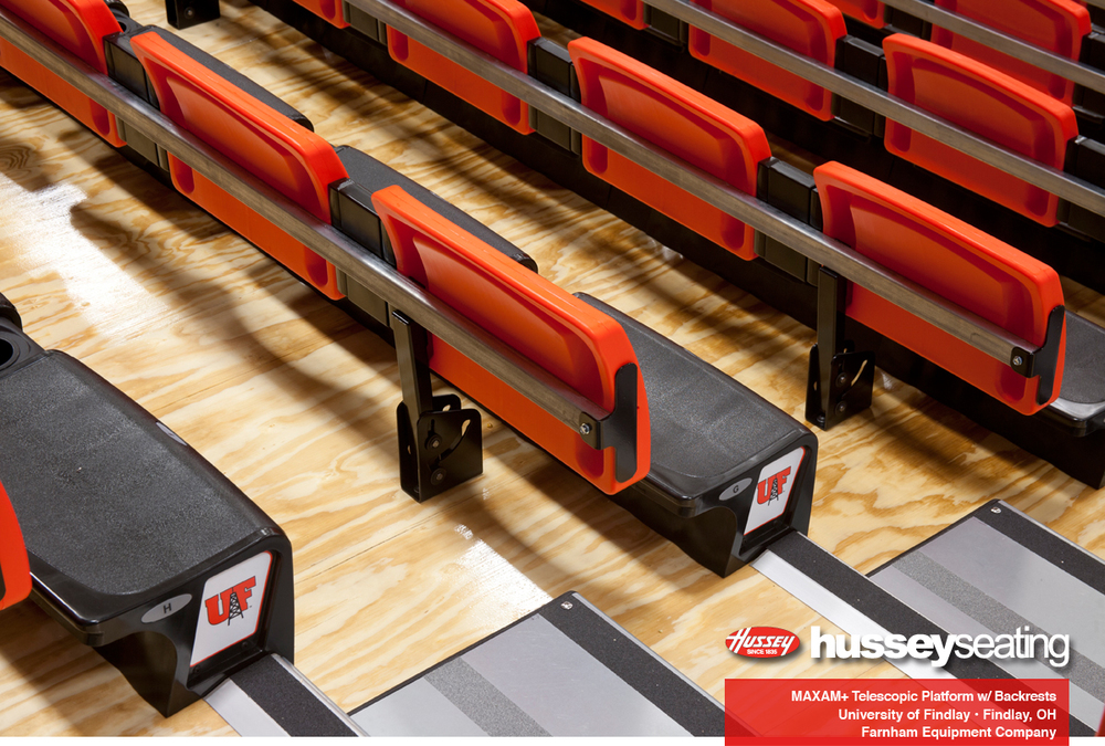 Backview of courtside backrests