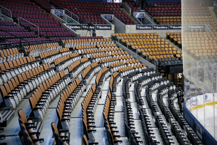 Professional hockey stadium seating