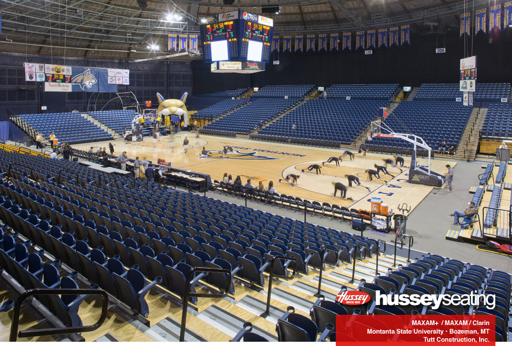 Full fieldhouse at Montana State University