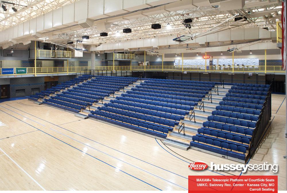 Swinney Recreation Center Freestanding bleachers