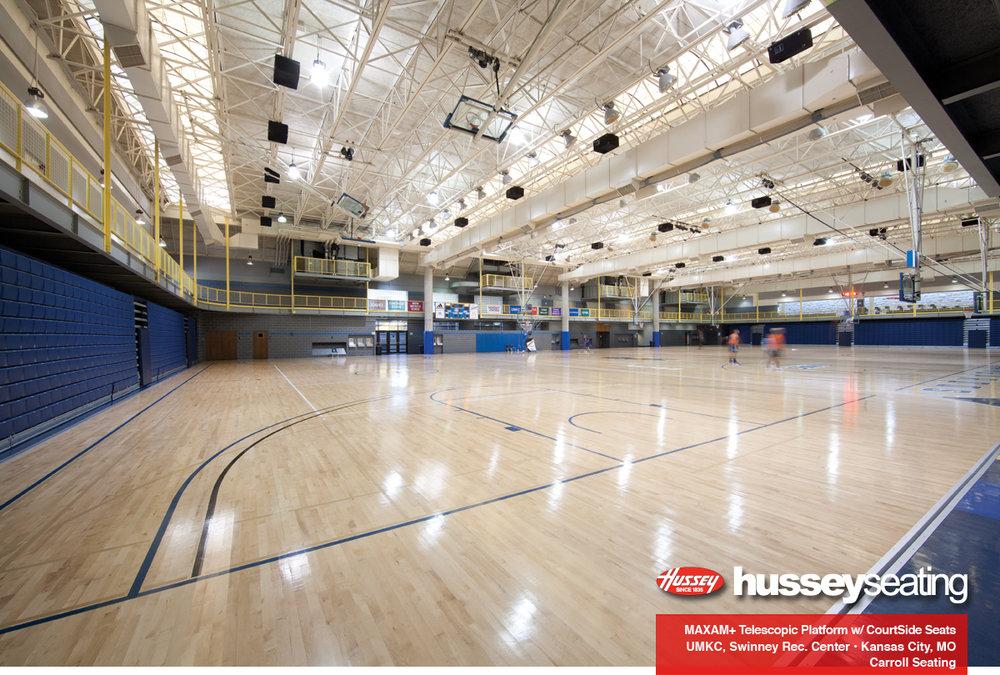Swinney recreation center with telescopic platforms
