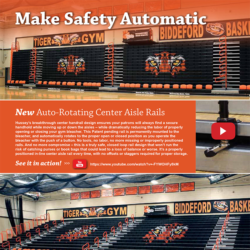 Auto-Rotating Center Aisle Rails