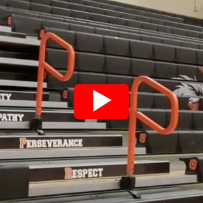 Automatic Center Aisle Hand Rail - Set Up & Strike