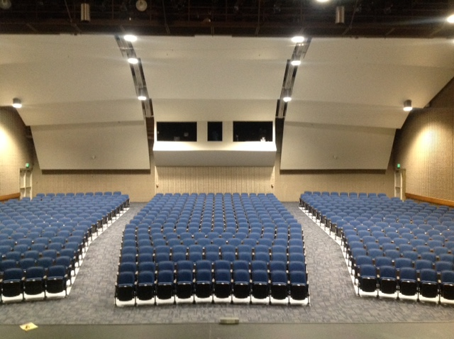 Quattro Auditorium seating in Utah High School
