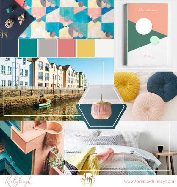 Moodboard | ney Design Studio | New fabric Collection | Home Decor | Linen Fabric | UK Printed fabric | Upholstery fabric | Giftwares | KILLYLEAGH INSPIRATION
