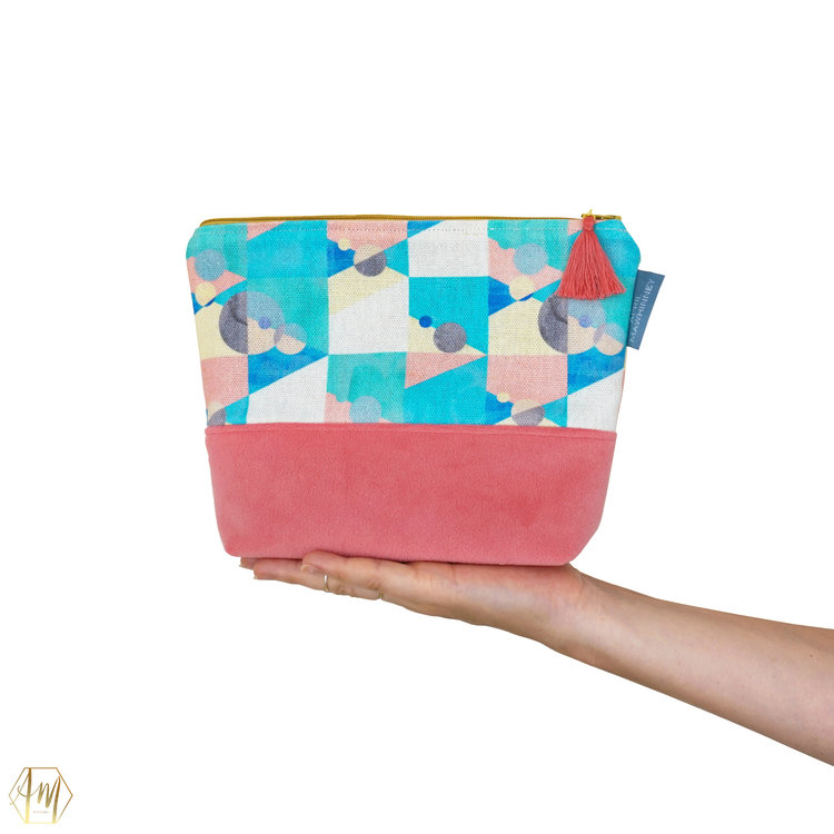KILLYLEAGH LINEN & VELVET COSMETIC BAG | APRIL MAWHINNEY DESIGN STUDIO | ILLUSTRATION | LINEN FABRIC | COSMETIC BAGS | HANDMADE| IRISH DESIGNER | NORTHERN IRELAND