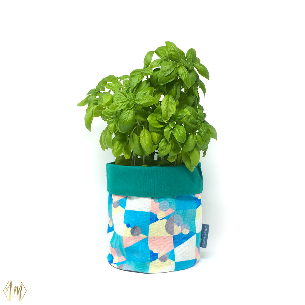KILLYLEAGH LINEN PLANT POT COVERS | APRIL MAWHINNEY DESIGN STUDIO | ILLUSTRATION | IRISH DESIGN | NORTHER IRELAND DESIGN | PRINT STUDIO | GIFTWARE | HOME DECOR