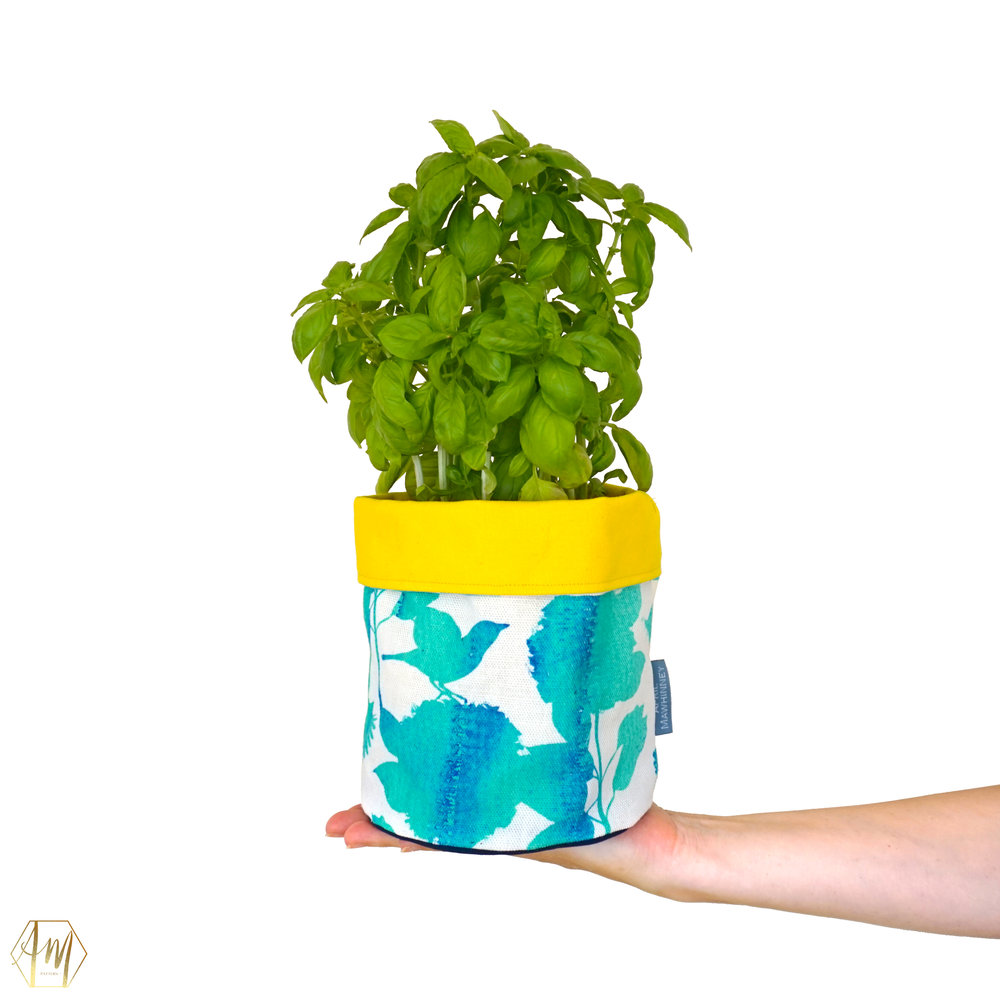 TEMPLE WATER LINEN PLANT POT COVERS | APRIL MAWHINNEY DESIGN STUDIO | ILLUSTRATION | IRISH DESIGN | NORTHER IRELAND DESIGN | PRINT STUDIO | GIFTWARE | HOME DECOR