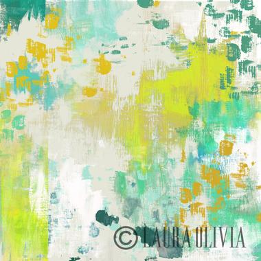 Abstract-Aqua. Laura Olivia Textile Design Studio