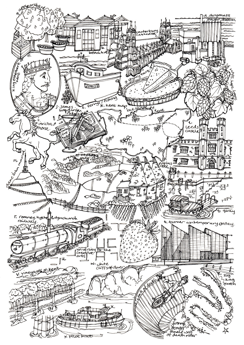 Esther Coombs | Illustrator | Kent Map