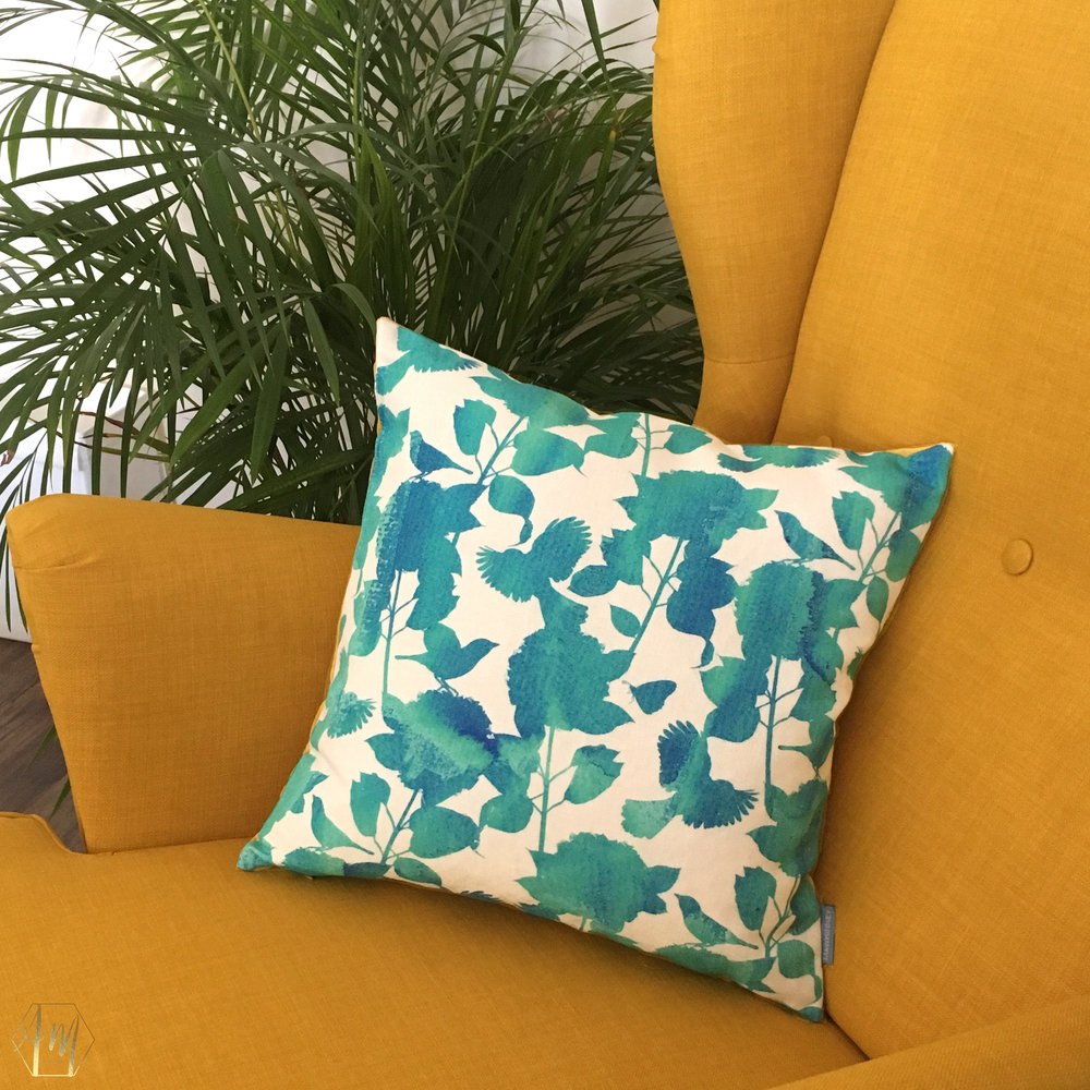 April Mawhinney Design Studio | New fabric Collection | Home Decor | Linen Fabric | UK Printed fabric | Upholstery fabric | Giftwares | Temple Water Fabric Inspiration