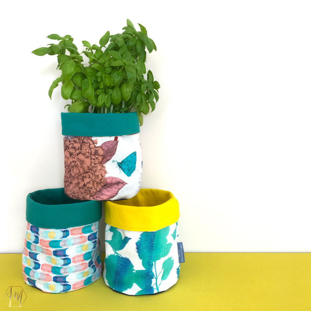 Linen Plant Pots | Irish Design | APRIL MAWHINNEY DESIGN STUDIO