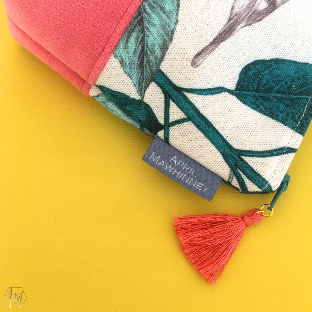 Linen and velvet cosmetic bags | Irish Design | APRIL MAWHINNEY DESIGN STUDIO