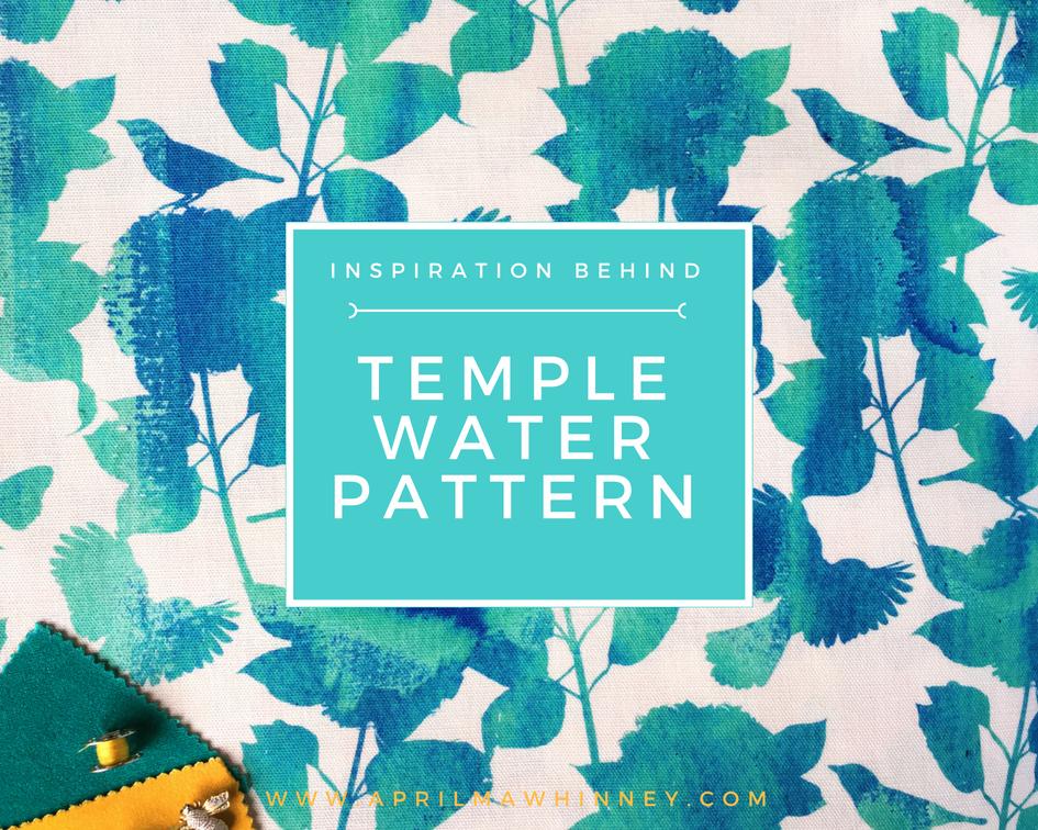 Temple Water Pattern | Designer linen Fabric | Digitally Printed | UK Designer | Irish Designer | April mawhinney Design Studio | Floral Watercolour Fabric