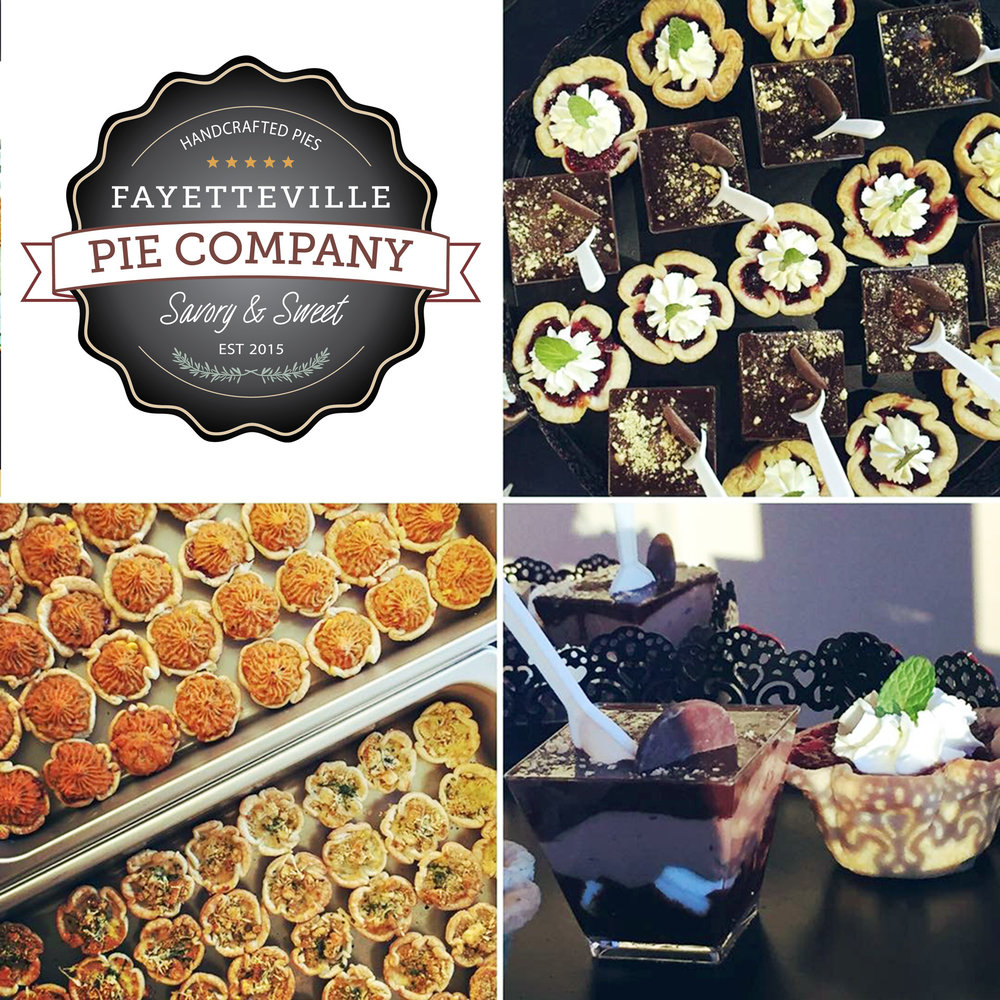 COCKTAIL PARTY - Host a chic cocktail party or jazz night for your guests with our pie bites. Pie bites are hors d'oeuvre size portions of our savory and sweet pies and layered trifles. Your guests can enjoy a glass of wine while our wait staff serves your selections. Vegetarian quiches can be provided as well. Pie bite trays are $96 each with 48 pieces. For cocktail parties, drinks will be served in goblet glassware, wine glasses or champagne flutes.
