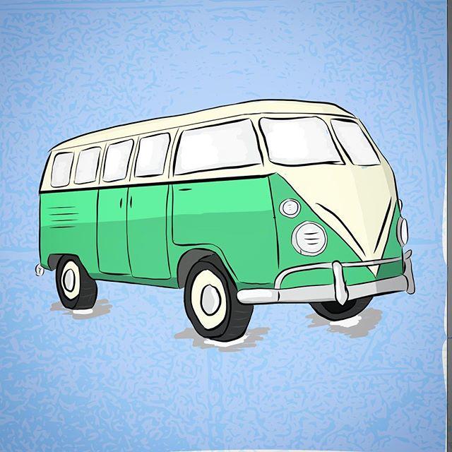 VW bus #illustration #ipadpro #dailyillustration #adobedraw #adobe #graphicdesign