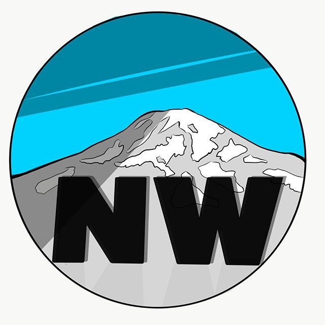Northwest #rainier #pacificnw #adobe #adobedraw #ipadpro #dailygraphic #graphicdesign #leftcoast