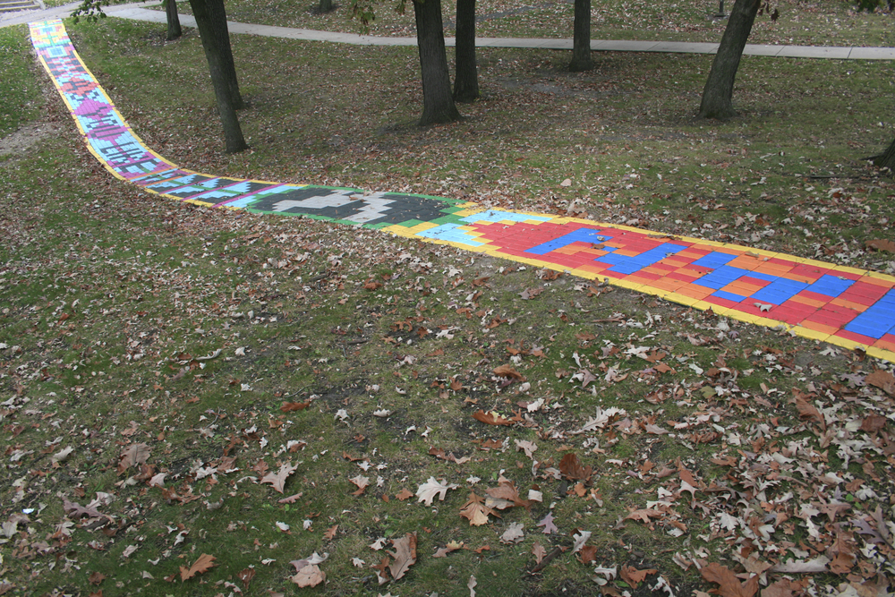 Path installed at Beloit College, 2014