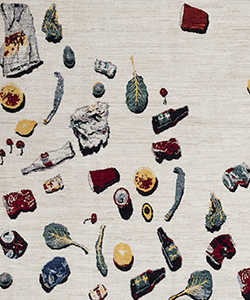 Unswept Rug, Afghan Carpet Project, 2015