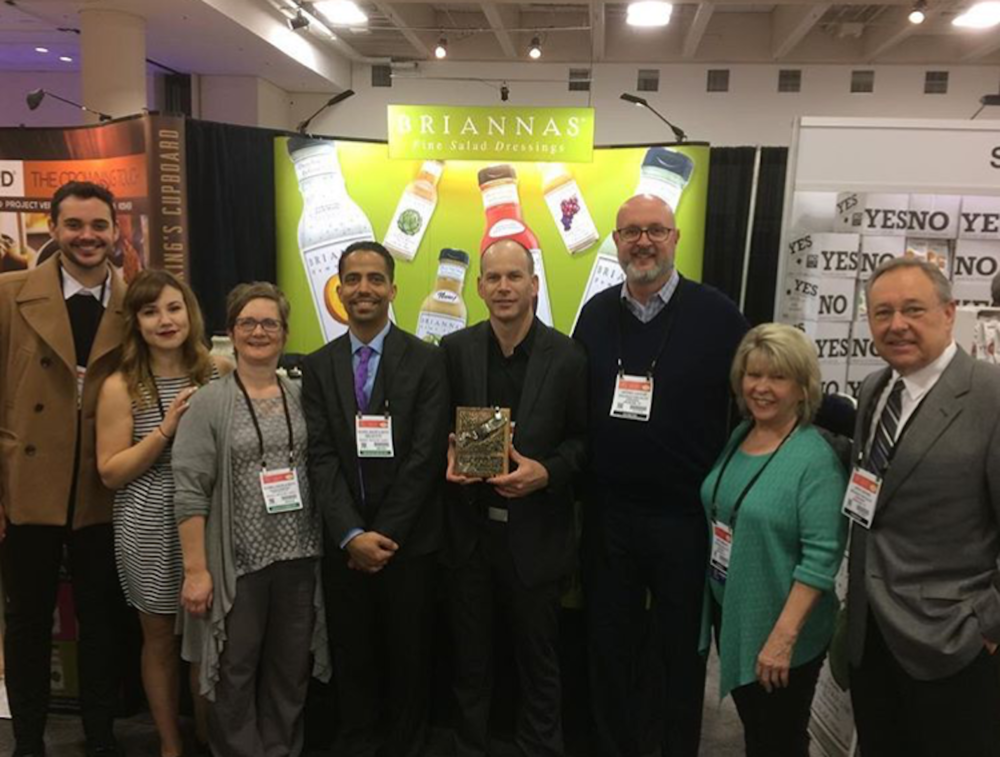 2017 San Francisco Fancy Food Show - Global Sales & Marketing North team receiving Broker of the Year Award from Brianna's Salad Dressing!