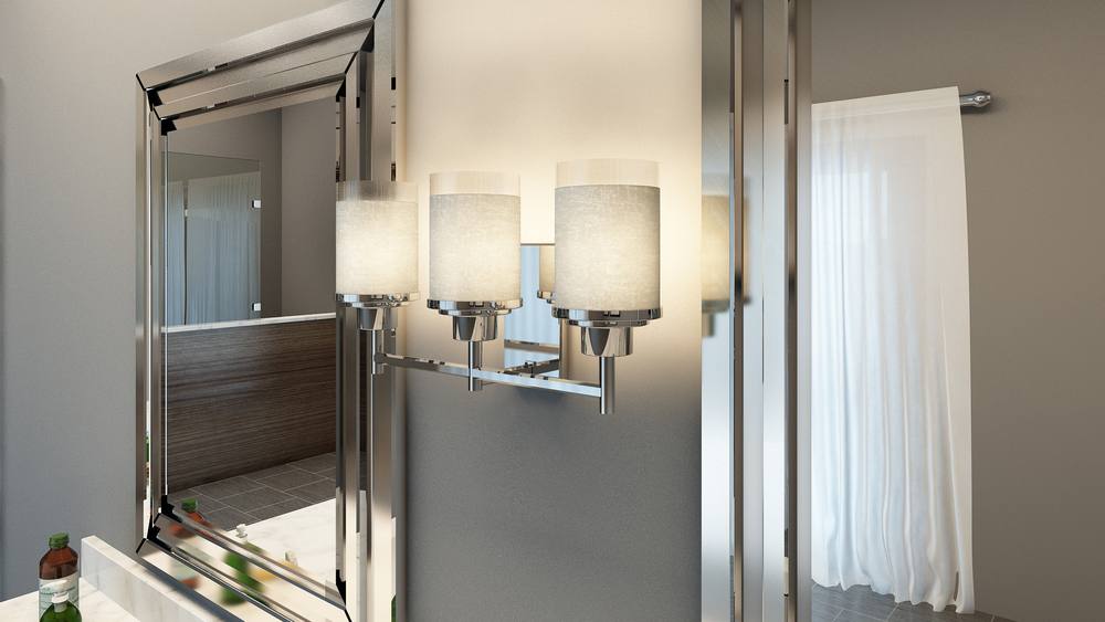 CGI Bathroom Vanity Lighting Product Photography