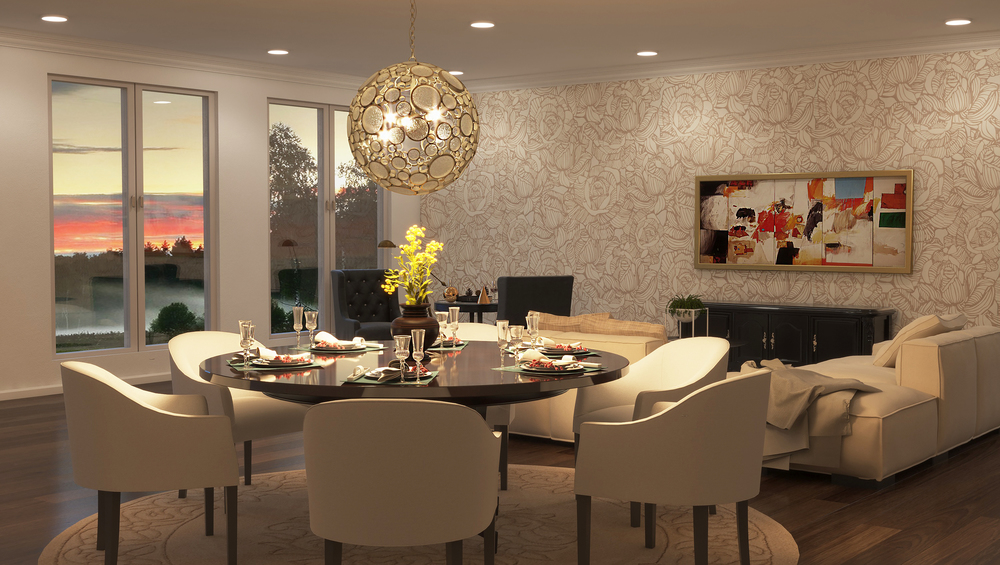 CGI Dining Room Chandelier Application Photography