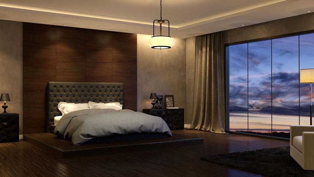 CGI Bedroom Light Fixture Set Photography