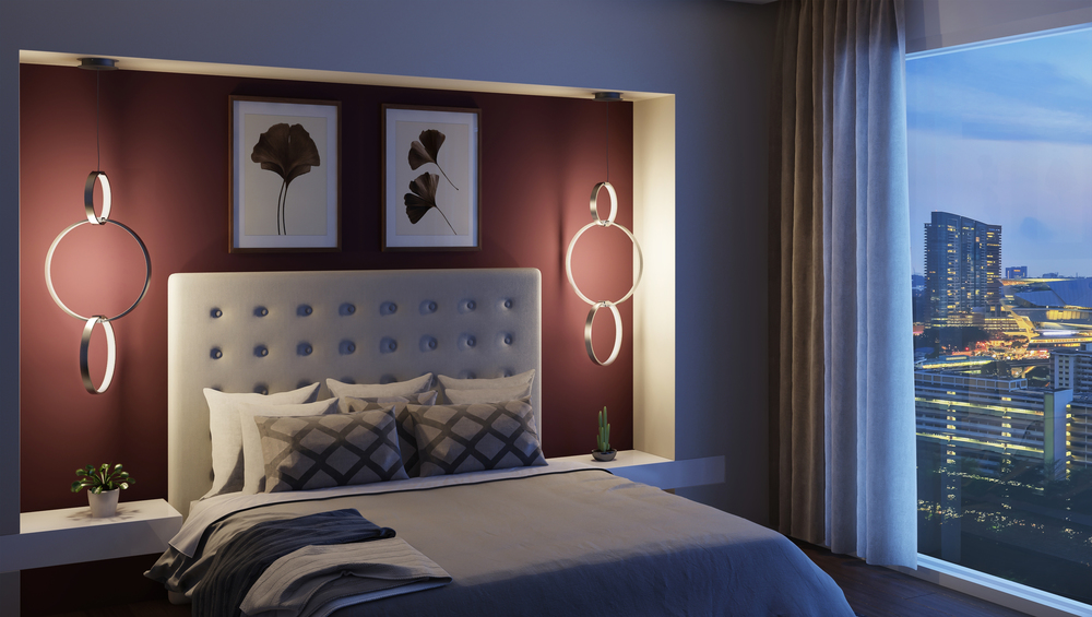 CGI Bedroom Chandelier Application Photography