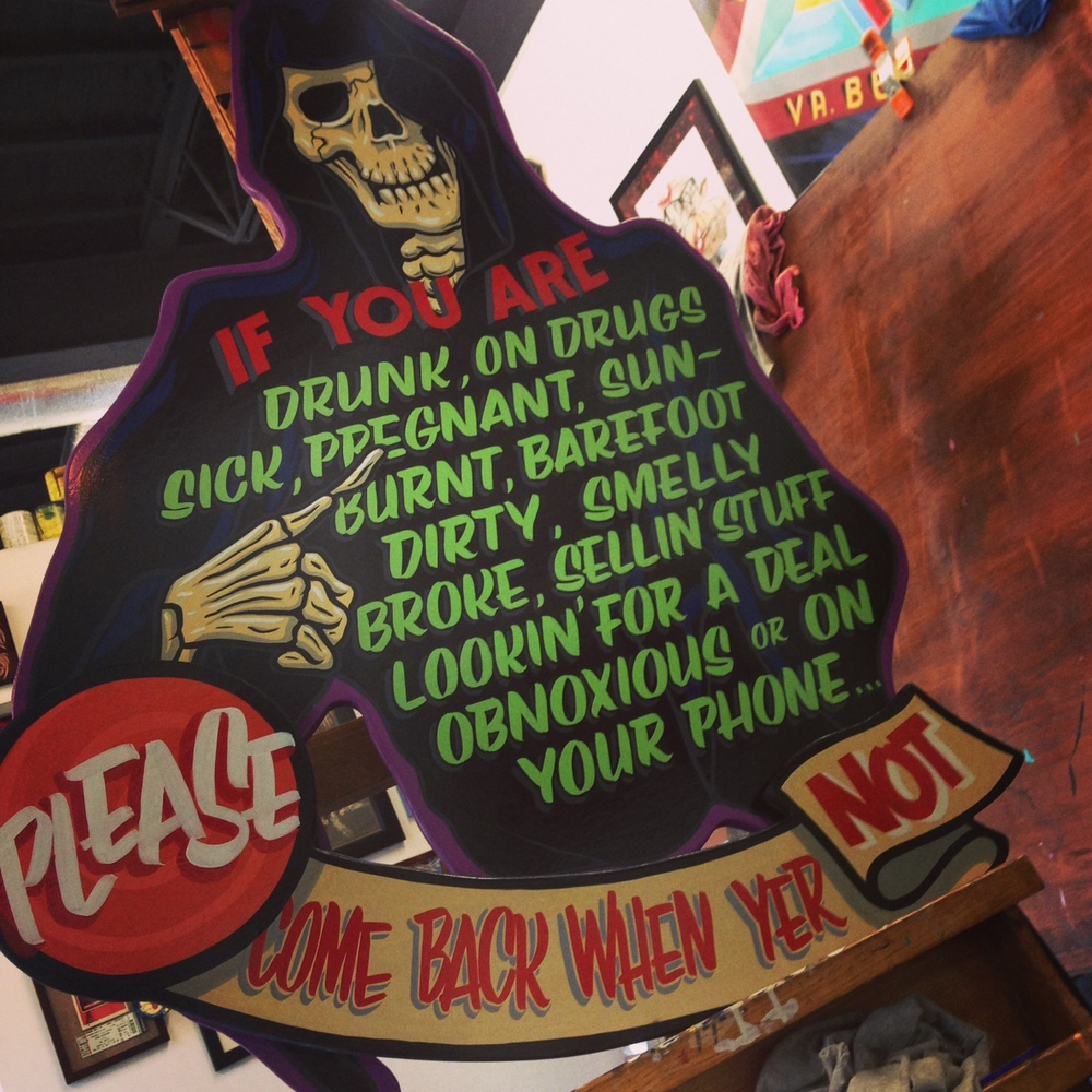 reaper hand painted sign
