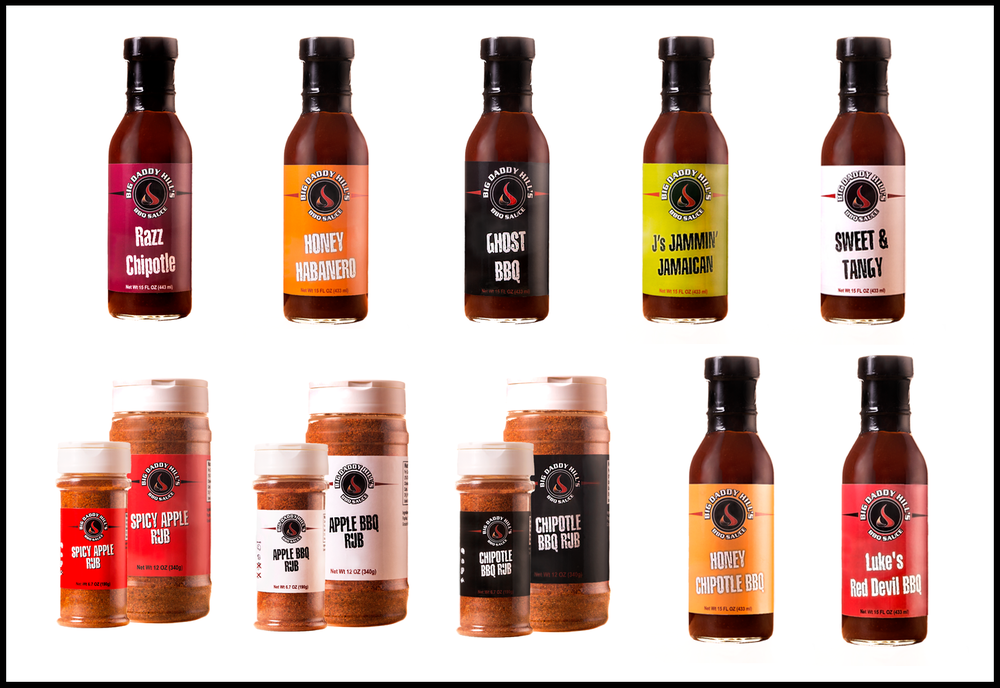 bbq sauce bottles product photo