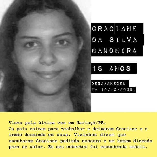 Graciane da Silva Bandeira - 18 anos / @graciane.se