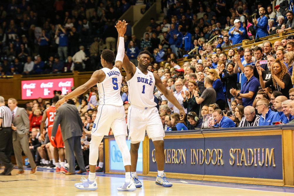 RJ Barrett & Zion Williamson :: Duke Men's Basketball NCAA :: Keenan Hairston.jpg