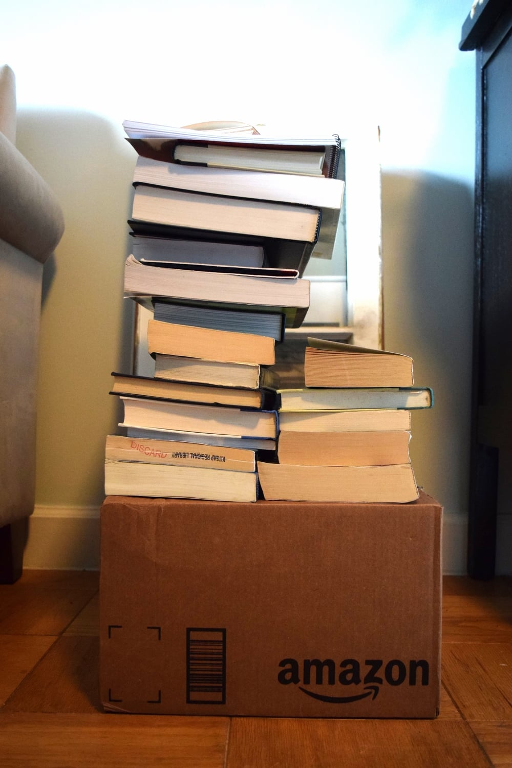 The box is full, too! P.S. The hubs taught me how to stack like that, without it falling over. Oh yes, it's still standing as I write this. He's got talent.