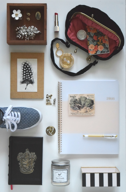 One way I get inspired is through gathering objects together to create a mood board.