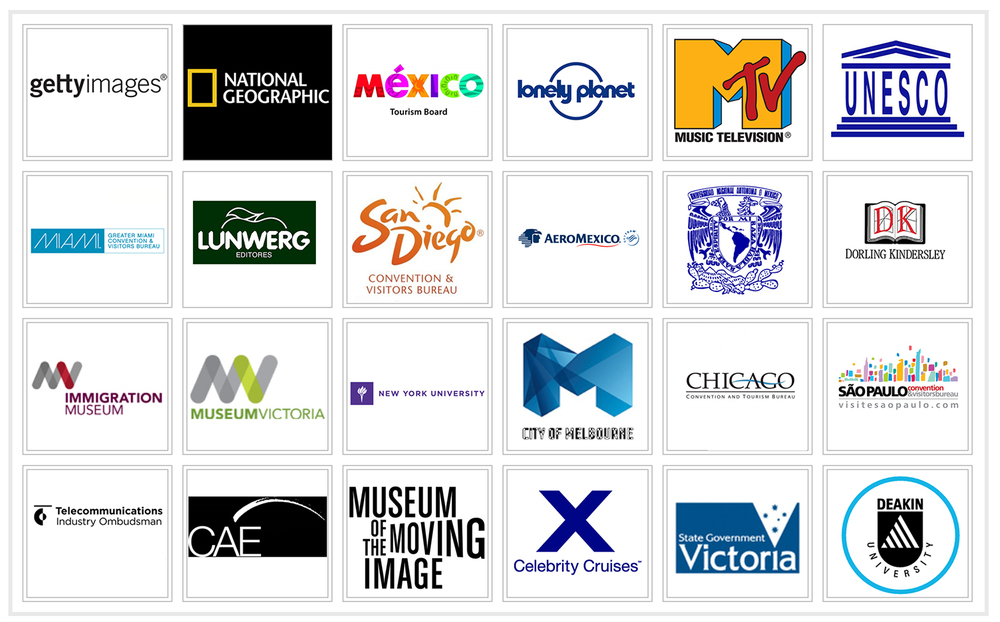 Selection of International clients and from United States of America, Mexico, Brasil, Spain and Australia.