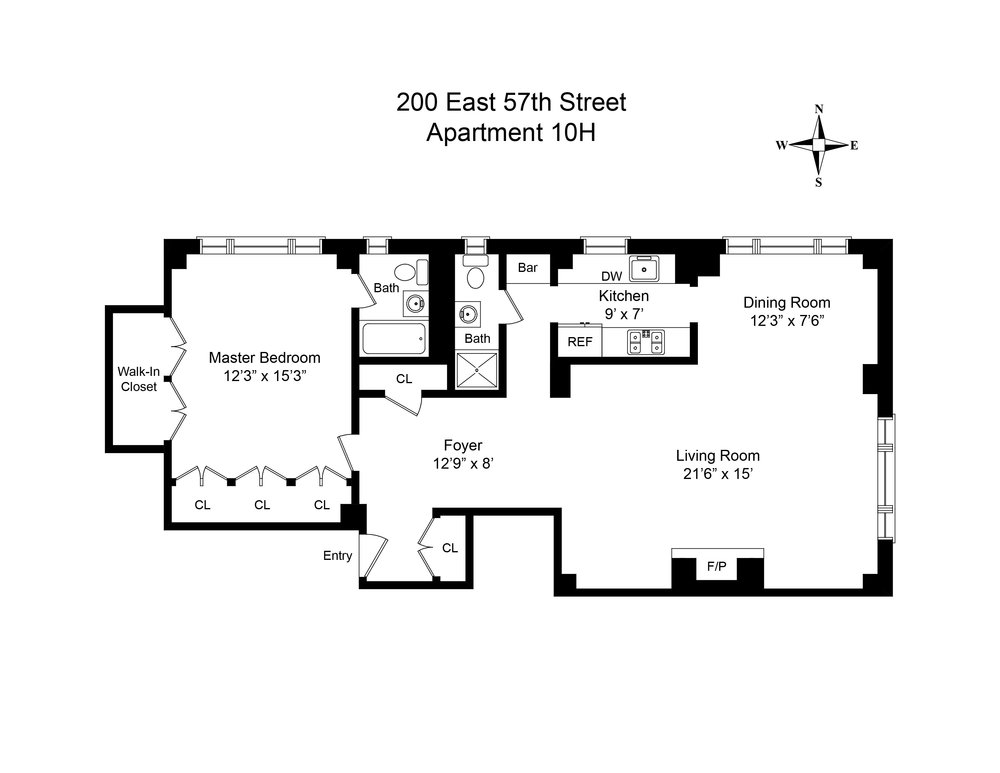 Luxury Apartment NYC_ 200 East 57th_Floor plan.jpg