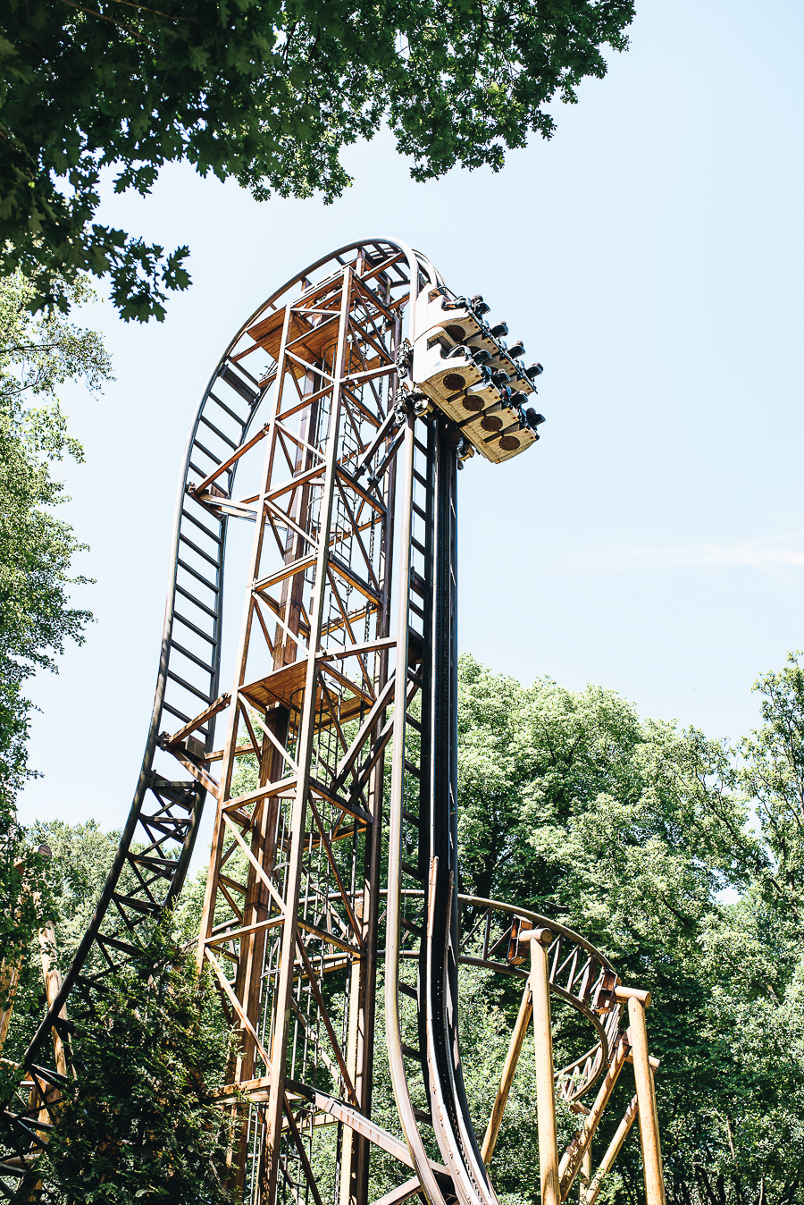 Can you believe my 10 year old Daughter went on this?! It goes upside down and was far too scary for me!