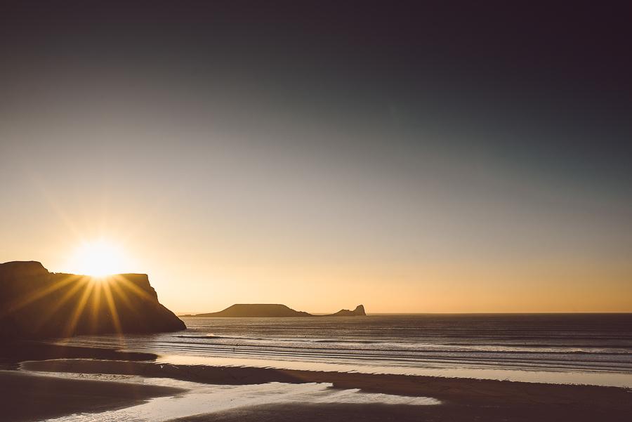 The wonderful Rhossili beach and November light.