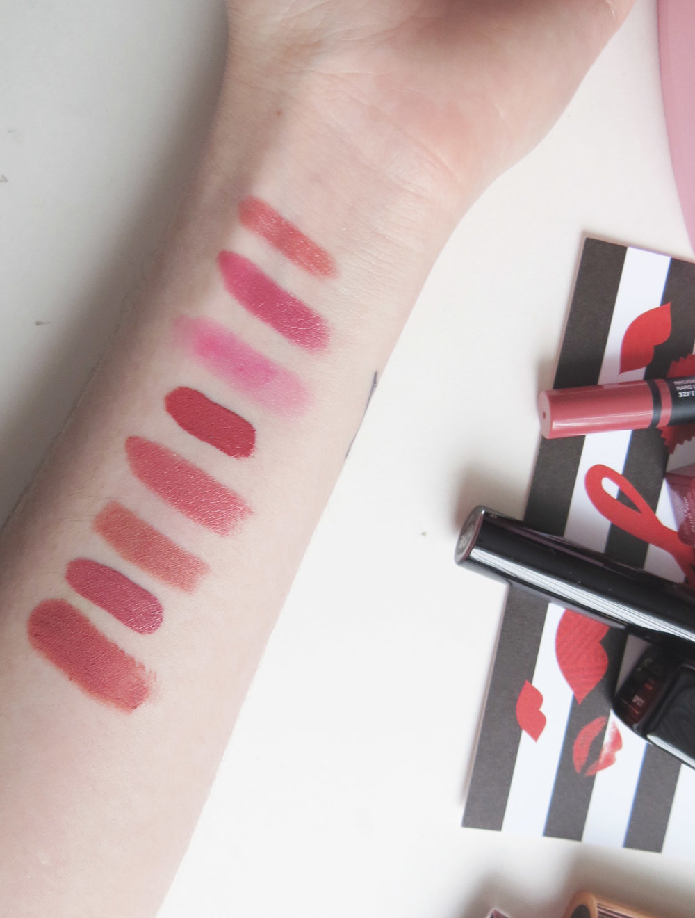 Rikugien, Plum Pop, Crush, Shush Blush, Rosy Boop, Pillow Talk, Petale de Rose, Mascarpone