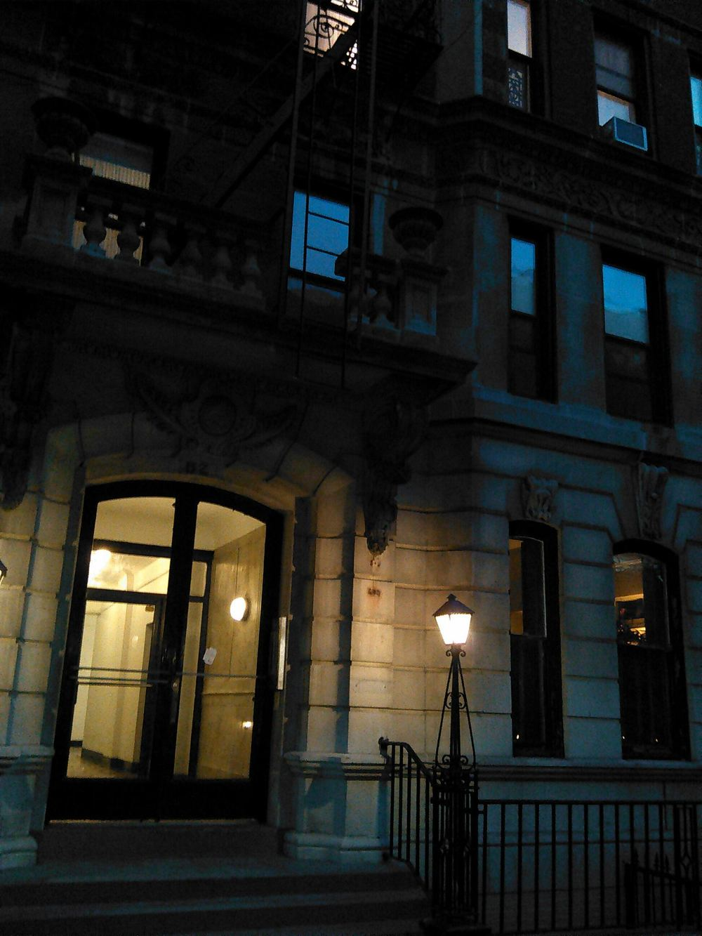 82 Washington Place the other night.