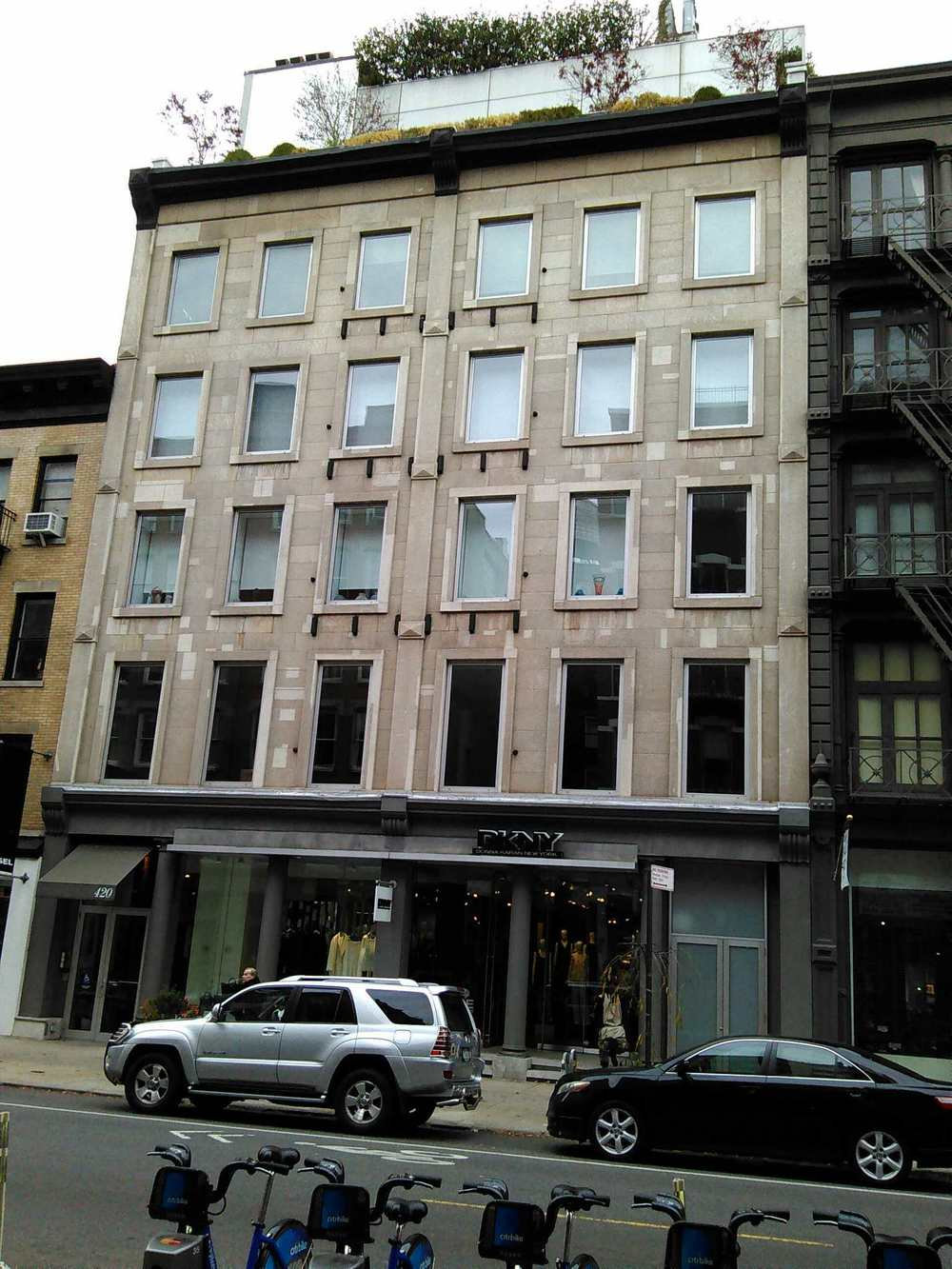 420 West Broadway, the first big time SoHo gallery building, on Thanksgiving 2015.