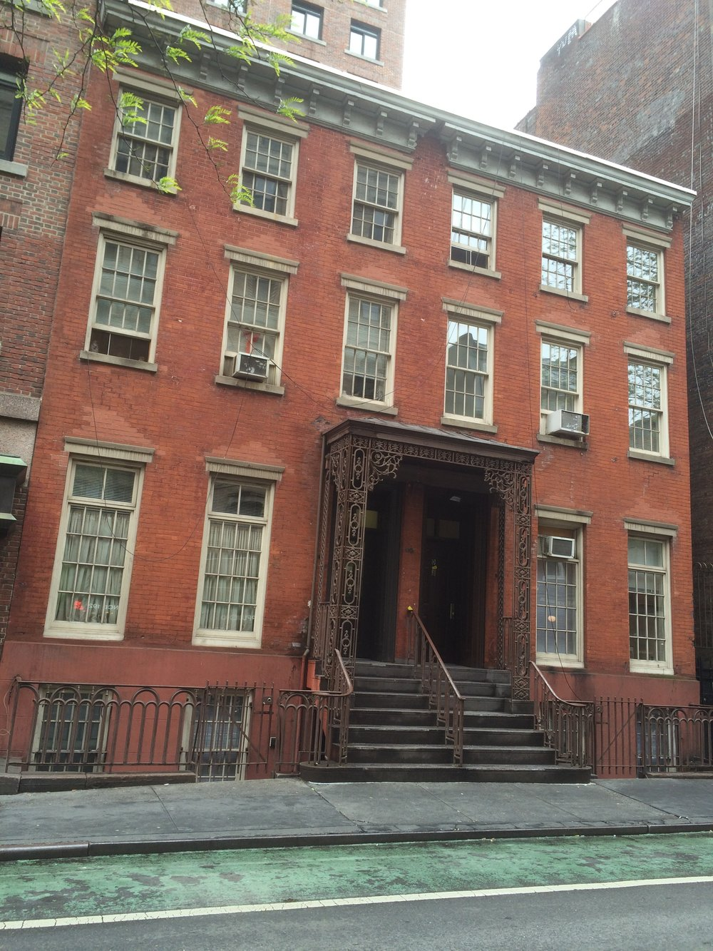 In 1868, Louisa May Alcott reportedly wrote the last paragraphs of  Little Women  from her uncle's double-wide red townhouse at 130-132 MacDougal.